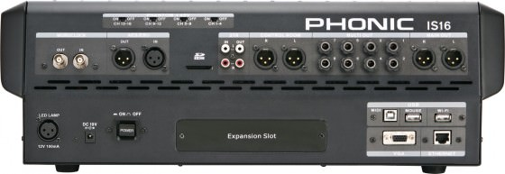 Rückansicht des Phonic IS16
