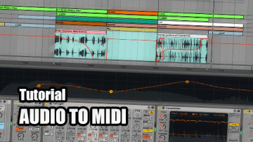 Audio to MIDI Tutorial Ableton Live 9