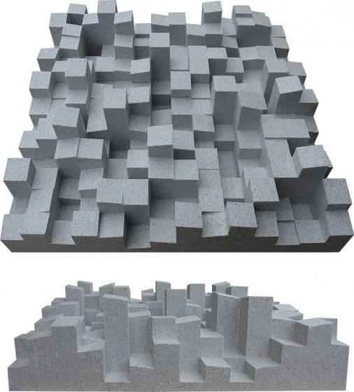 Akustikelemente - Zweidimensionaler Diffusor