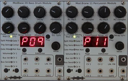 Jomox ModBase 09 & Mod.Brane 11