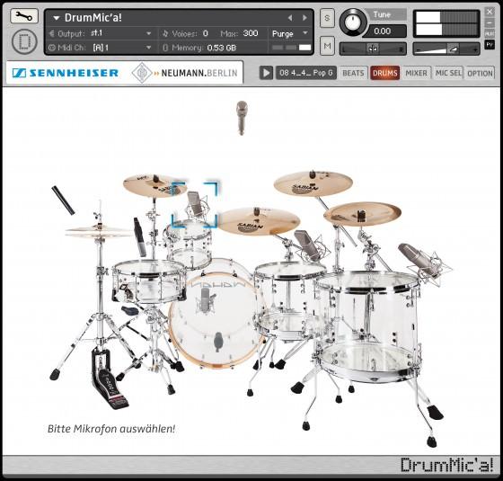 Virtuelles Schlagzeuge DrumMic'a