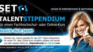 Stipendium an der SET - School of Entertainment & Technology
