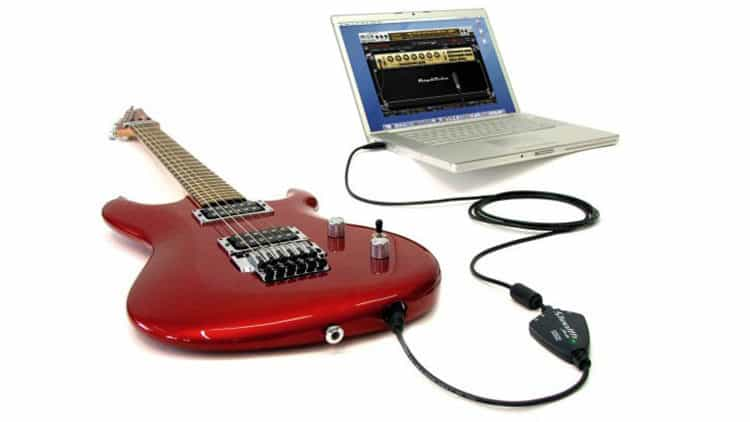 Audio Interface Gitarre