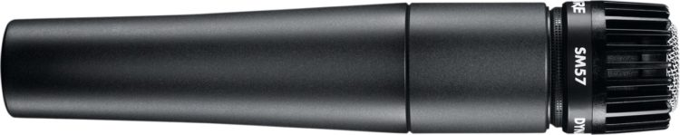 Shure SM57 - Klassisches Mikrofon zur Aufnahme der Gitarre über einen Verstärker