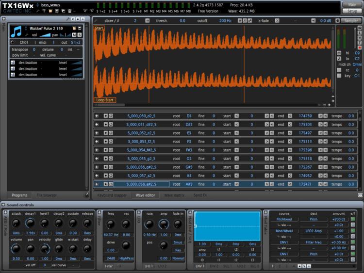 CWITEC TX16Wx - Sampler Software gratis ... starkes Programm!