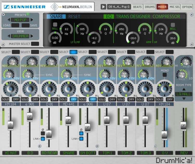 DrumMic'a - Virtuelles Schlagzeug als Beat Maker Software gratis!