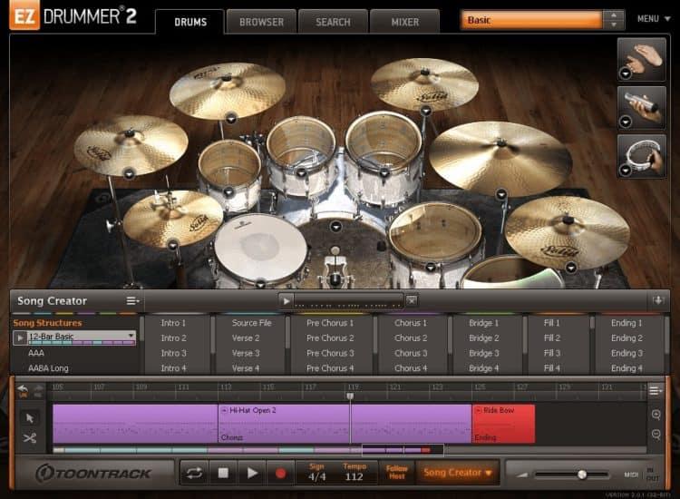 Toontrack EZdrummer 2 - Einfach Beats erstellen: Programm für ein virtuelles Schlagzeug