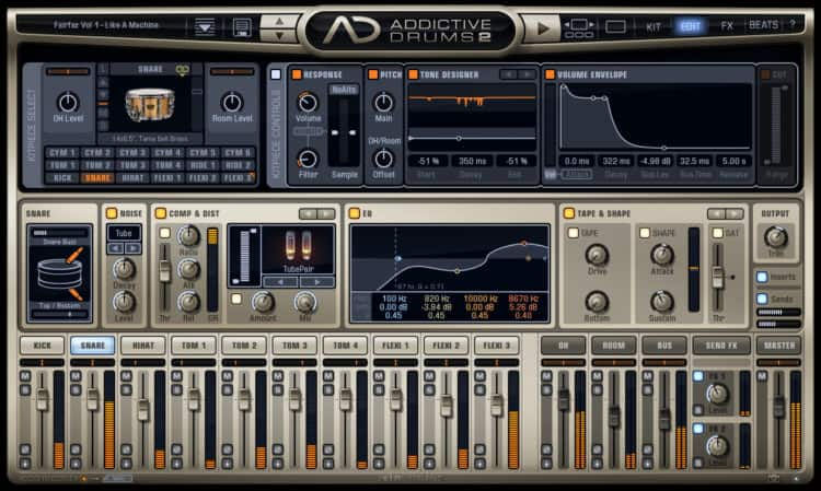 XLN Audio Addictive Drums 2 - Gut zugängliche Software für virtuelle Drums