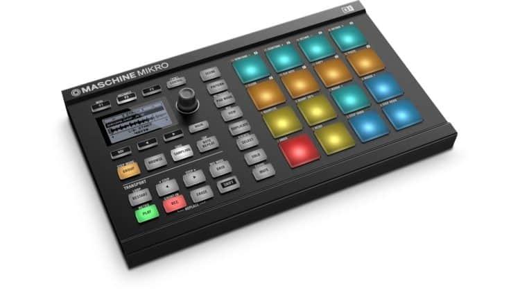 Der kleine Groovebox-Controller Native Instruments Maschine Mikro Mk2 - direkter Konkurrent der Akai MPC Studio Black