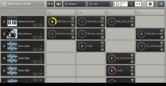 Bestes Musikprogramm für elektronische Musik - Cakewalk Sonar - Matrix View