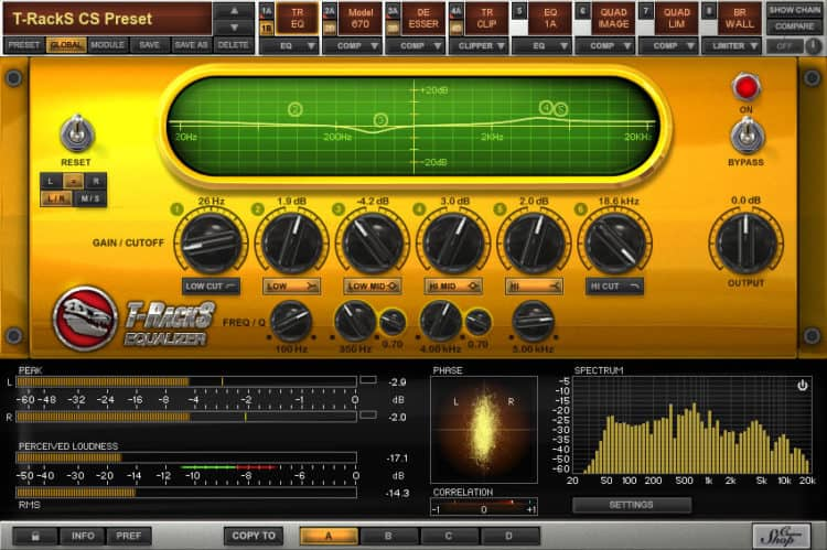 Mastering Software & Audio-Editor - IK Multimedia T-RackS CS