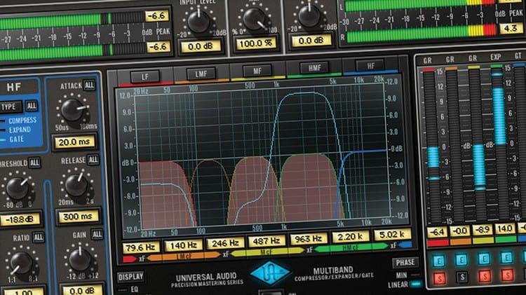 Musik-Programme für Mastering im Tonstudio - Multiband-Kompressor