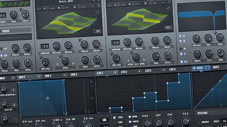 Programme für Audio- und Musikproduktion - Synthesizer Software