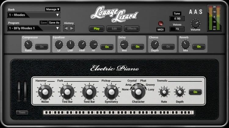 Synthesizer Software und virtuelle Instrumente - AAS Lounge Lizard EP-4