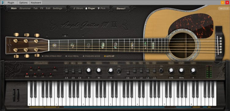 Synthesizer Software und virtuelle Instrumente - Ample Sound Ample Guitar II
