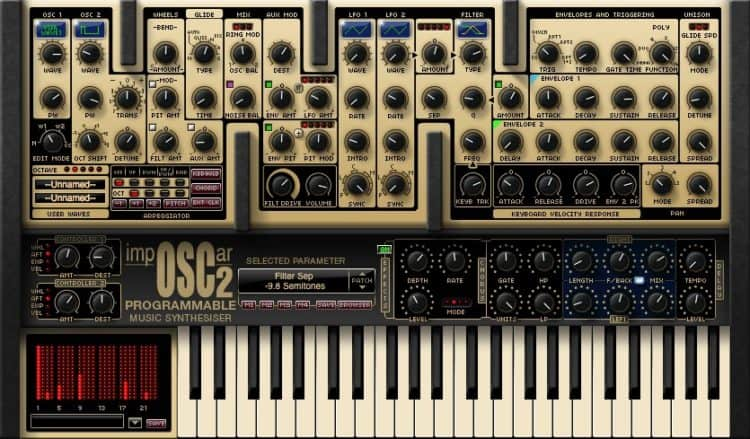 GForce impOSCar2 - Synthesizer Software