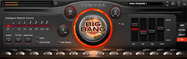 Synthesizer Software und virtuelle Instrumente - SONiVOX Big Bang Cinematic Percussion 2