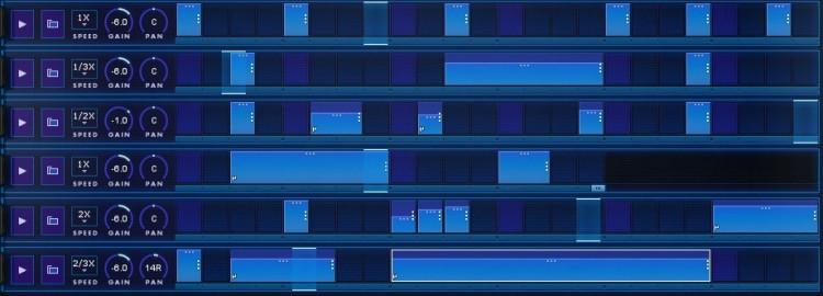 Der Sequenzer von iZotope BreakTweaker