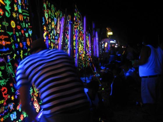 Discolicht, DJ Lichttechnik - Schwarzlicht