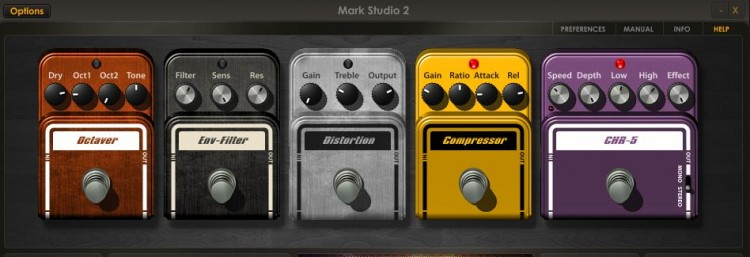 Effekte im Overloud Mark Studio 2 Review