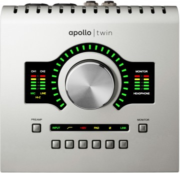 Oberseite des Universal Audio Apollo Twin