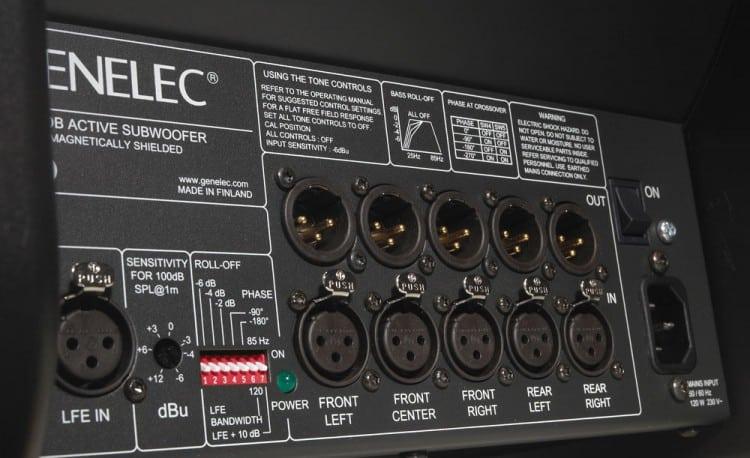 Genelec 7050B Review - Anschlüsse im Detail