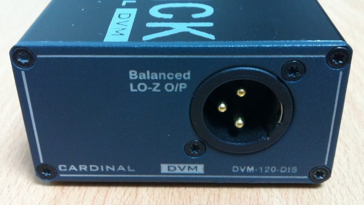 Sommer Cable DVM-120-DIS Test - Ausgang