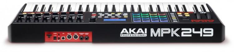 Akai MPK 249 Review - Anschlüsse an der Rückseite