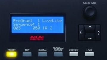 Akai MPK 249 Test - Display & Bedienung