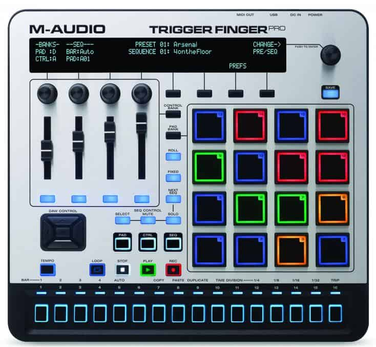 M-Audio Trigger Finger Pro Review - Bedienoberfläche