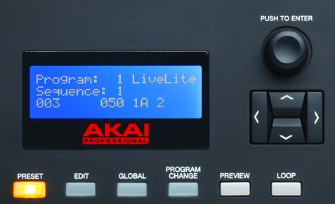 Akai MPK 261 Review - Display