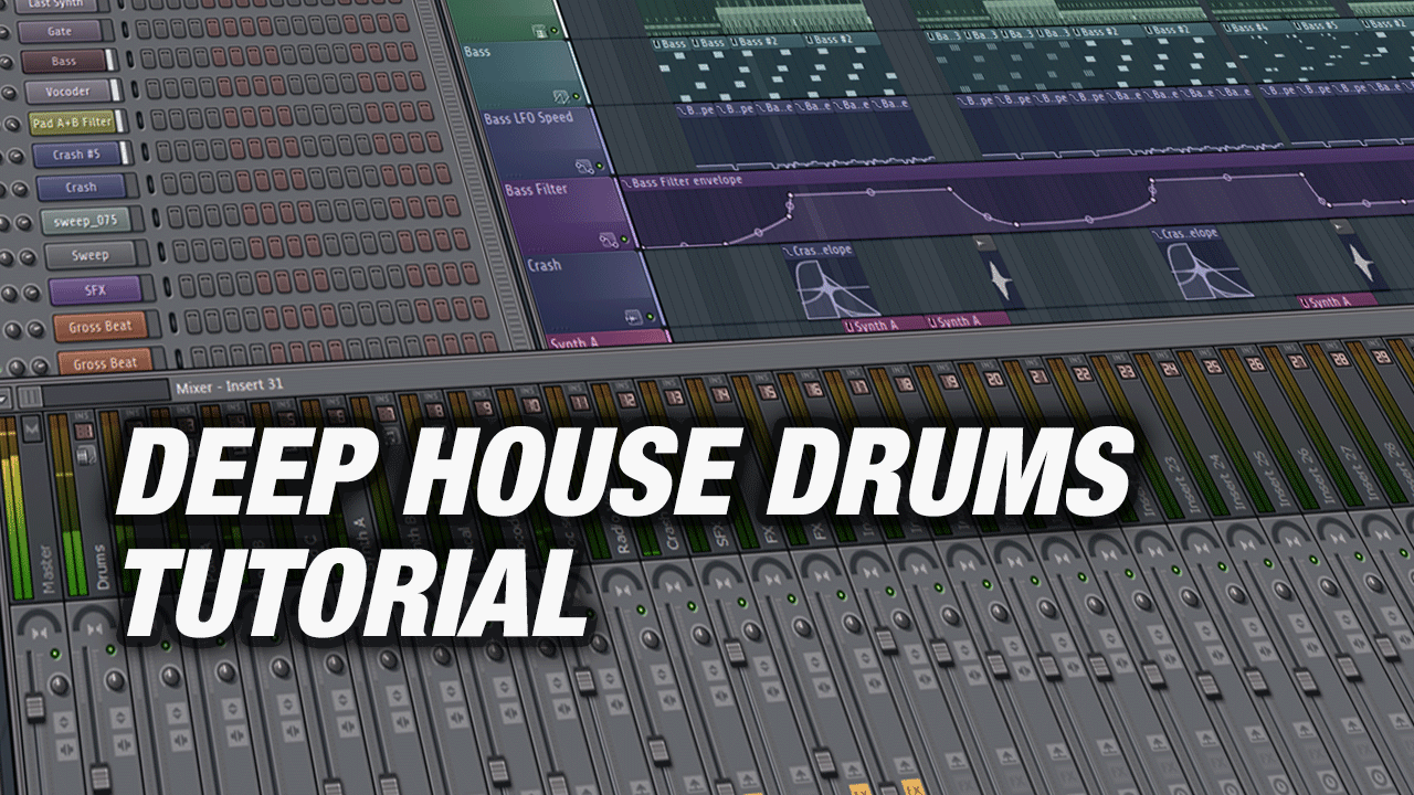 Deep House Drums & Beats programmieren mit FL Studio