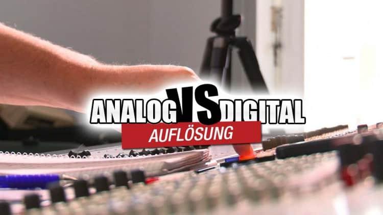 Auflösung Analog vs. Digital