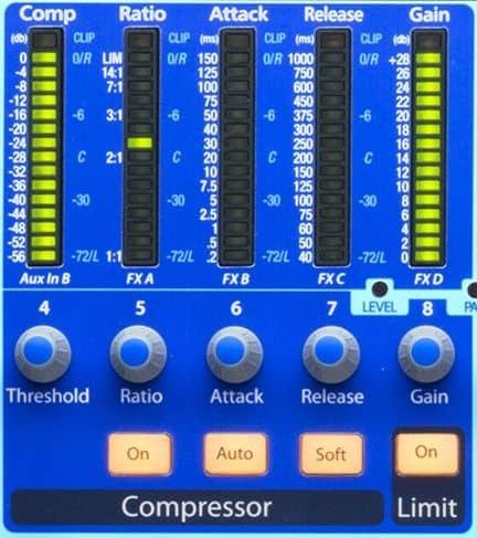 Kompressor am Mischpult einstellen - PreSonus StudioLive 16.4.2AI