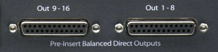 Direct Outputs - Ausgänge zum Recording am Mischpult anschließen