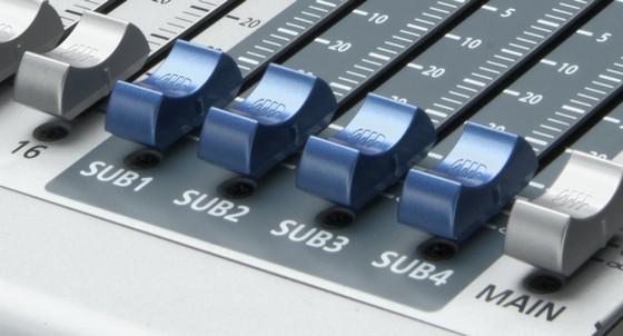 Band Recording Equipment - Die Subgruppenkanäle des PreSonus StudioLive 16.4.2AI