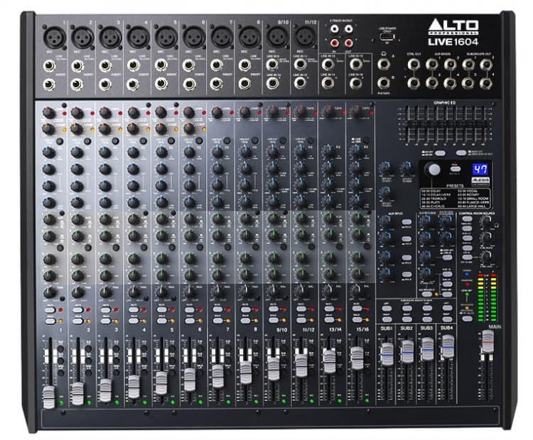 Mischpult Empfehlung für Anfänger - Alto Professional Live 1604