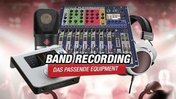 Recording Equipment für Bands