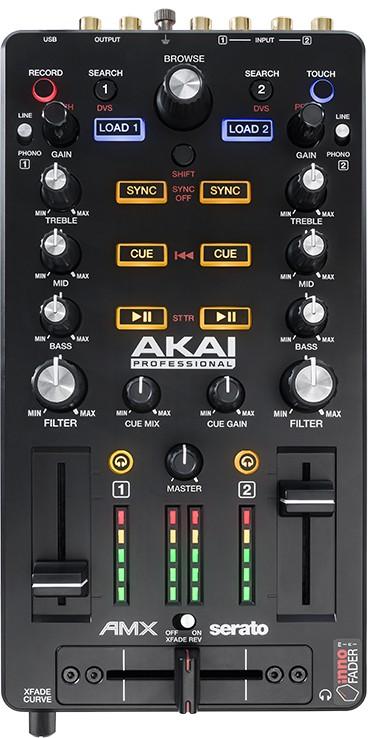 Test des Akai AMX - Oberseite mit allen Bedienelementen