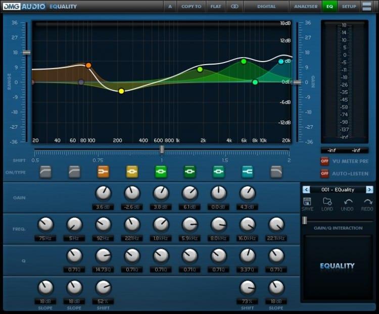 Die besten Equalizer Plugins - DMG Audio EQuality