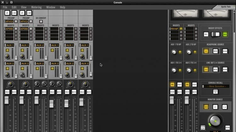 Flexibles Monitoring beim Recording per Universal Audio Apollo Twin