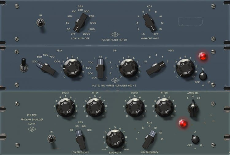 Die besten Equalizer Plugins - Universal AudioPultec Passive EQ Plug-In Collection