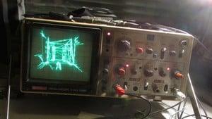 Quake auf einem Oszilloskop
