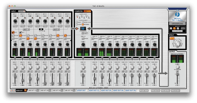 Zoom TAC-8 MixEfx