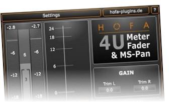 Free VST Plugins: HOFA 4U Meter, Fader & MS-Pan