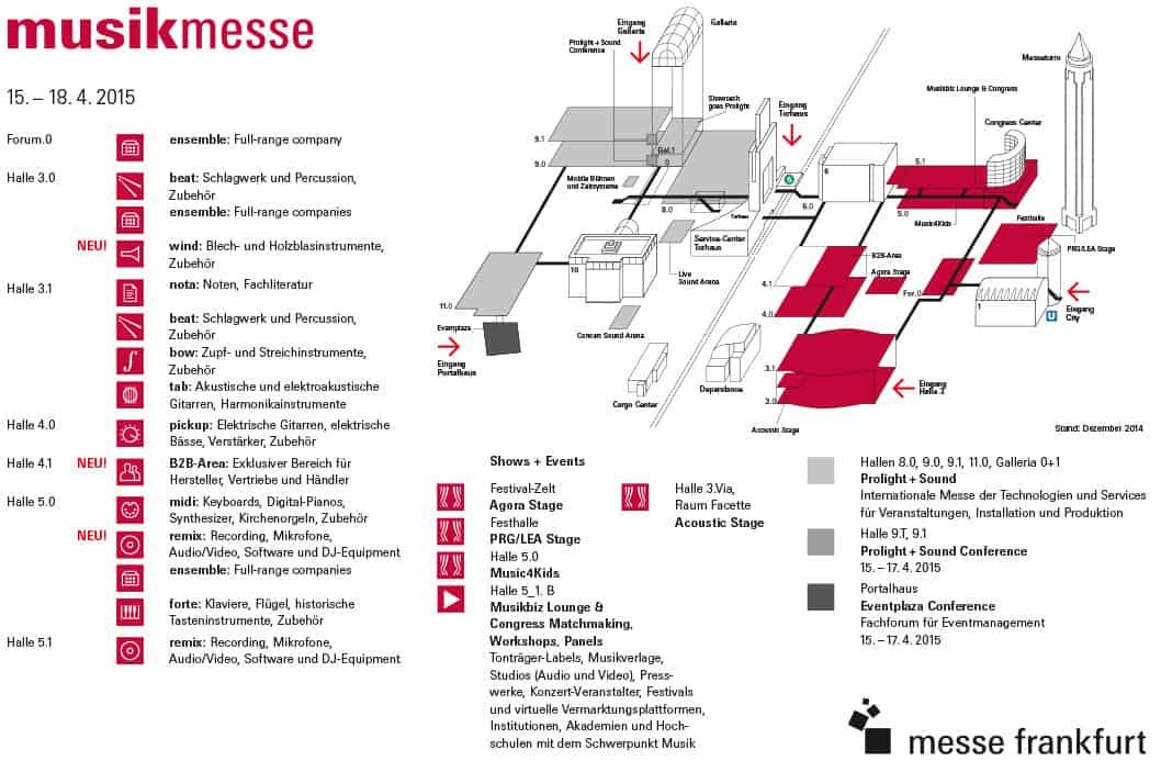 Musikmesse 2015 Hallenplan