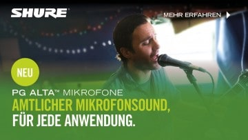 PG ALTA Mikrofone: Profi Sound, von Anfang an (Advertorial)