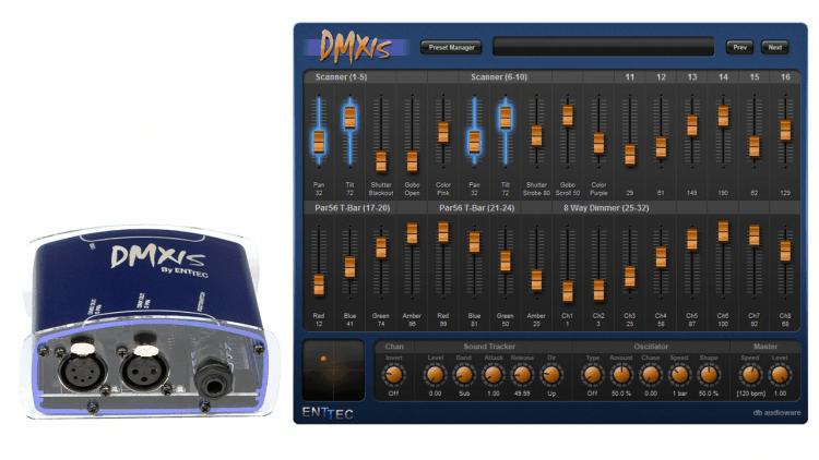Enttec DMXIS - DMX-Controller Lösung