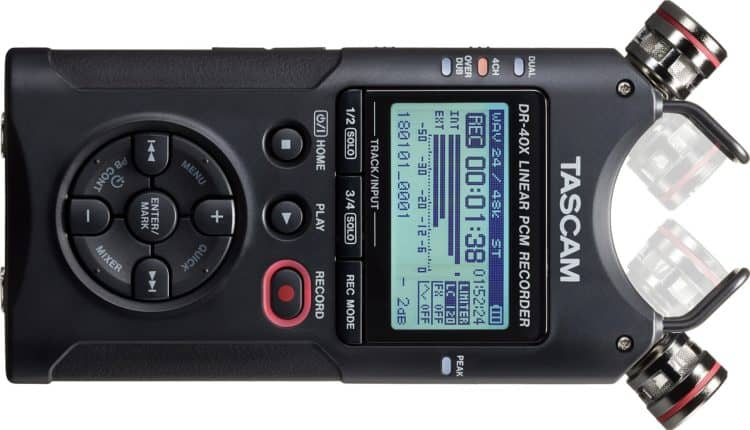 TASCAM DR-40X - Mobile Digitalrecorder