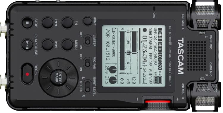 TASCAM DR-100MKIII - Mobile Digitalrecorder